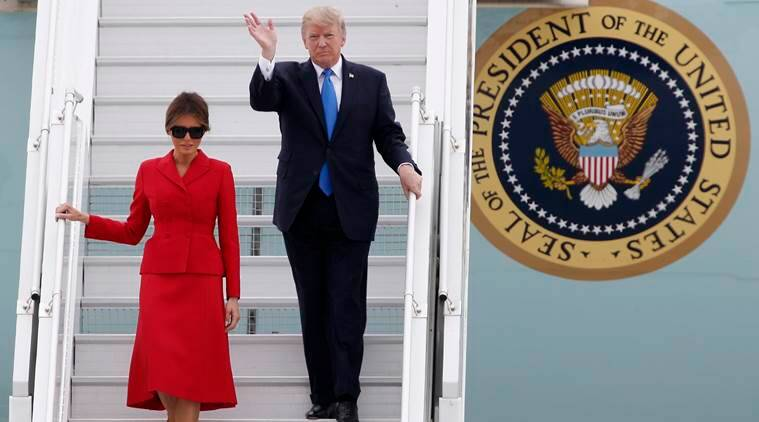 Trump France visit, Donald Trump, US President, Emmanuel Macron, French President Emmanuel Macron, United States, US, France, US France relations, World news, Indian Express news