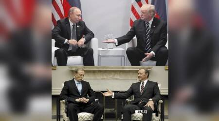 Freaky coincidence! Putin-Trump moment from G20 is eerily similar to House of Cards scene