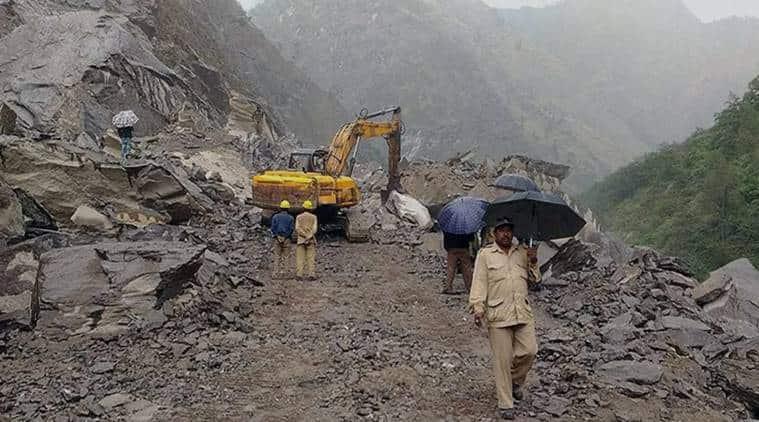 Himachal Pradesh Landslide, HP Landslide, Himachal Heavy Rain, Himachal Pradesh Heavy Rain, Heavy Rain Himachal Pradesh, India News, Indian Express, Indian Express News
