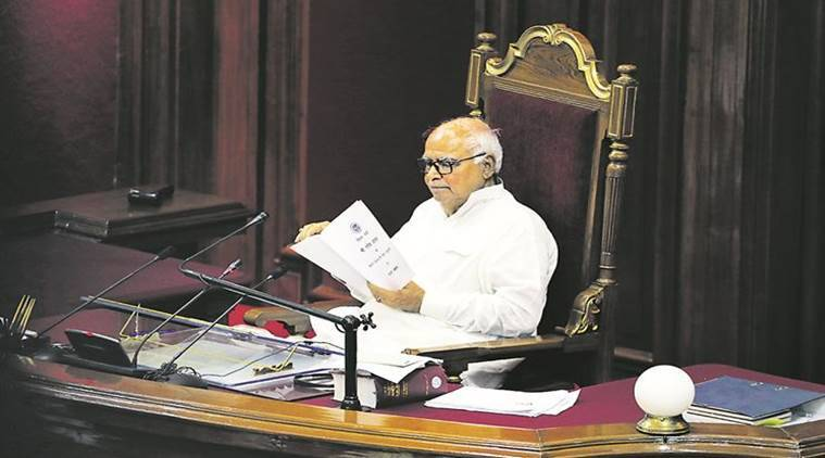 UP Assembly, UP Assembly Budget Session, Stormy start to budget session, Lucknow News, Indian Express News