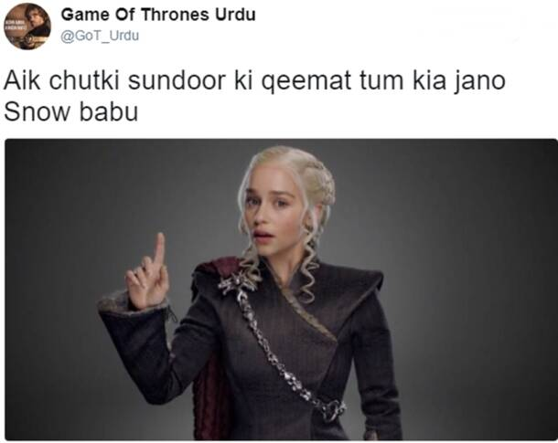 This hilarious 'Game of Thrones Urdu' Twitter account is BRILLIANT