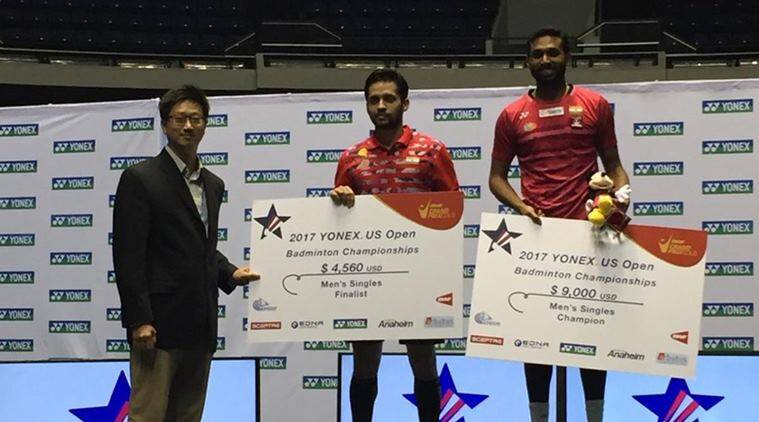 hs prannoy, parupalli kashyap, prannoy vs kashyap, us open, badminton, prannoy wins us open, sports news, indian express