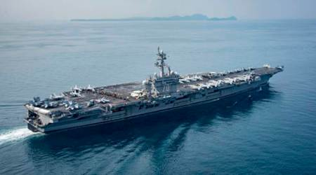 Pentagon confirms rare, three aircraft carrier drill November 11-14