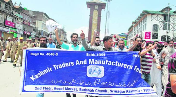 gst, jammu and kashmir, gst protests, goods and services tax, kashmir bandh for gst, india news, indian express news
