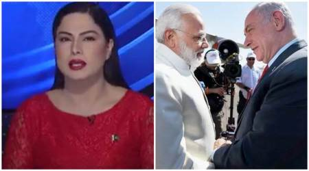 Bigg Boss fame Veena Malik is now a Pakistani news anchor and her take on PM Narendra Modi's Israel trip is epic. Watch video