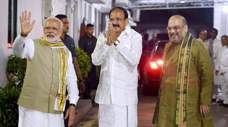 PM Modi seeks Tamil Nadu CM's support for NDA's Vice President nominee Venkaiah Naidu