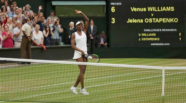 Venus Williams blows past Jelena Ostapenko for her 10th Wimbledon semifinal