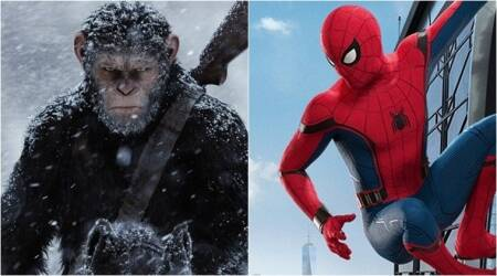 war of the planet of the apes, spiderman homecoming, july films, july movies
