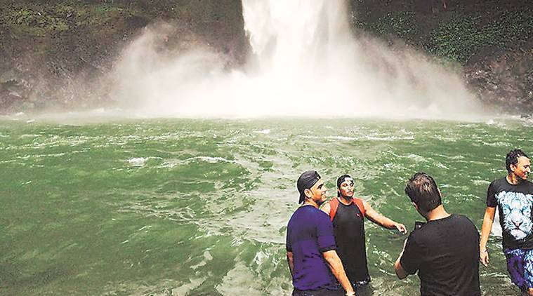 Pune, Devkund waterfall, Pune news, Indian Express news