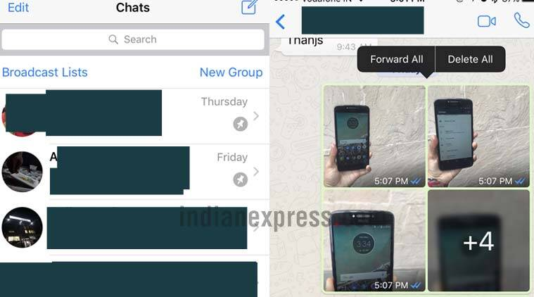 WhatsApp iOS update brings pinned chats, ability to share