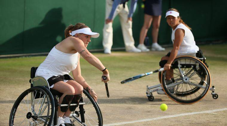 Jordanne Whiley, whiley, wheelchair doubles, wimbledon 2017, wheelchair doubles wimbledon, whiley pregnant, tennis, sports news, indian express