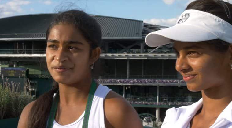 Wimbledon 2017, Wimbledon, Mihika Yadav, Mahak Jain, india tennis, india tennis wimbledon, india juniors, tennis news, sports news, indian express