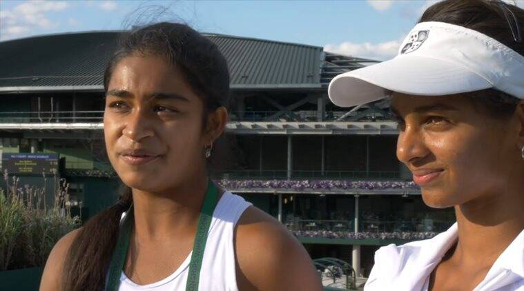 Wimbledon 2017, Wimbledon, Mihika Yadav, Mahak Jain, india tennis, india tennis wimbledon, india juniors, tennis news, sports news, indian express