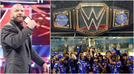 Post IPL 2017 win, Mumbai Indians receive customised WWE Championship belt