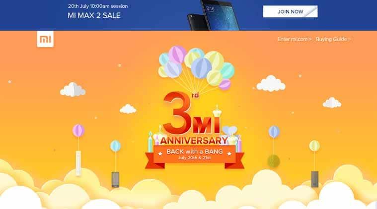 Xiaomi, Xiaomi Mi Max 2 sale, Xiaomi Redmi 4A at Re 1, Redmi 4A Re 1 flash sales, Xiaomi Mi 3rd anniversary, Xiaomi anniversary sale, Redmi Note 4 at Re 1, Redmi 4 at Re 1, Redmi Note 4 bidding sale, Xiaomi sale offers, Xiaomi anniversary sale