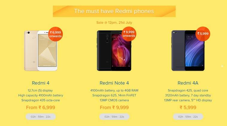 Xiaomi, Xiaomi Mi 3rd anniversary, Mi 3rd anniversary, Redmi 4A sale, Redmi 4 sale, Xiaomi Redmi 4 smartphone, Redmi 4 at Re 1, Redmi note 4 bidding sale, Redmi Note 4 flash sale, Redmi Note 4 discount