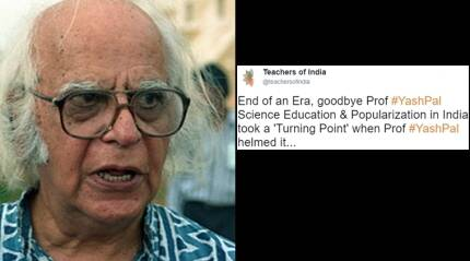 Professor Yash Pal is no more; Twitterati share fond memories from 'Turning Point'