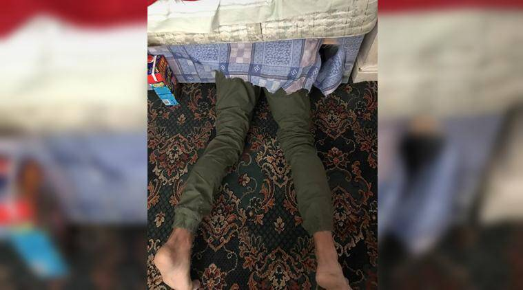 Halifax police, west yorkshire police, police funny tweets, police sacractic tweets, police funny stories, police post man hiding under bed, viral photo, police viral news, indian express