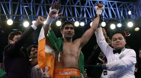 Vijender Singh, Zulpikar Maimaitiali, WBO Asia Pacific Super Middleweight, sports news, Indian Express