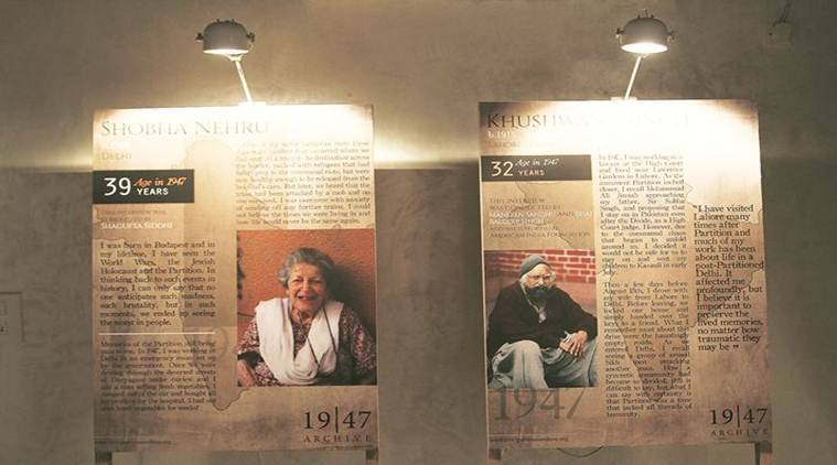 1947 Partition Archive, Guneeta Singh Bhalla, Memory Through the Ages Bikaner House, Unheard Stories India International Center, Events in Delhi, Partition exhibition Bikaner House, Partition stories, Women During the Partition India Habitat Center, Art and Culture News, Indian Express News