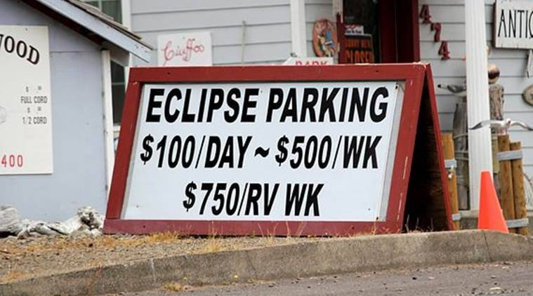 Oregon, solar eclipse, astronomy, accident, Aircraft, US airplane, US, Solar eclipse view. World News, Indian Express