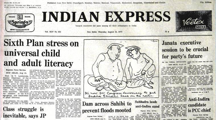 Jayaprakash Narayan, JP movement, JP struggle, planning commission, Independence, Indo-pak war, pakistan, india-pakistan, indian express fourty years ago,