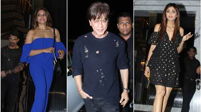 bollywood parties, shah ruykh khan images, preity zinta images, shilpa shetty, bipasha basu, bollywood big party image