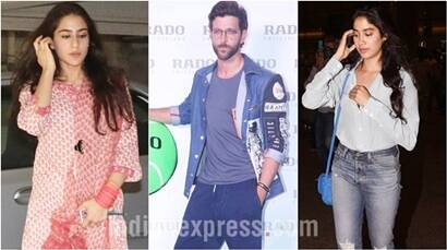 Sara Ali Khan shoots for Kedarnath, Jhanvi Kapoor spotted at airport and Hrithik Roshan steals hearts at an event
