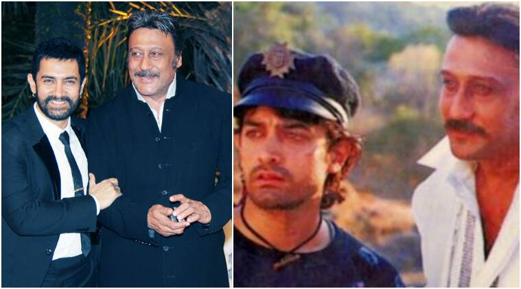 aamir khan, jackie shroff, aamir khan jackie shroff pics, rangeela film pics, bollywood friendships, bollywood bffs