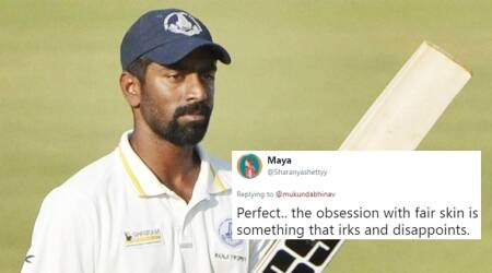 Twitterati come out in support of cricketer Abhinav Mukund's stand on obsession with fair skin