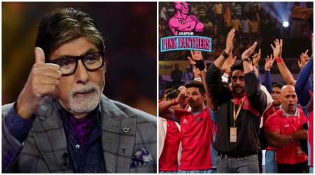 Exclusive: Abhishek Bachchan and his Pro Kabaddi team shoot for Amitabh Bachchan's Kaun Banega Crorepati 9