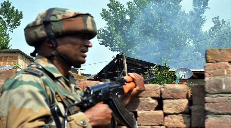 Jammu & kashmir, Tral, encounter, Indian Army, jammu Police, Indian Express