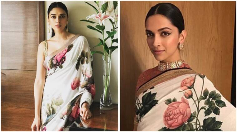 aditi rao hydari, deepika padukone, aditi rao hydari fashion, deepika padukone fashion, aditi rao hydari beautiful, deepika padukone latest photos, aditi rao hydari deepika padukone sabyasachi sari face-off, aditi rao hydari photos, aditi rao hydari pictures, aditi rao hydari latest photos, aditi rao hydari best images, indian express, indian express news