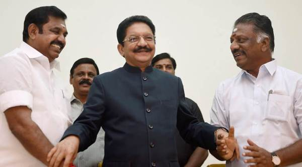 AIADMK merger, AIADMK reunion, O Panneerselvam, K Palaniswami, VK Sasikla, Dinakaran, Pandiarajan, All India Anna Dravida Munnetra Kazhagam, tamil nadu politics, indian express