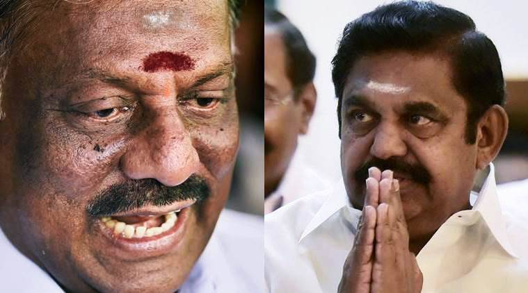 AIADMK merger live updates, AIADMK merger, K Palaniswami, O Panneerselvam, tamil nadu politics, jayalalithaa, amma memorial, india news, indian express