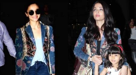Aishwarya Rai Bachchan or Alia Bhatt: Who wore the Roberto Cavalli denim jacket better?