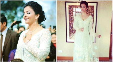 Aishwarya Rai Bachchan steals a million hearts in this white Manish Malhotra suit at IFFM