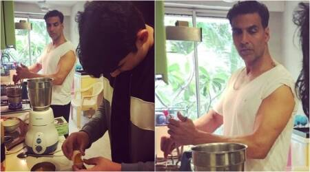 Akshay Kumar gives perfect husband goals yet again, turns chef with Aarav. See photo