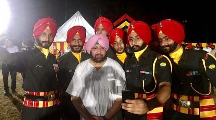 amarinder singh, sikh regiment, independence day, 3 sikh, gurdaspur, indo-pak border, indian army, indian express