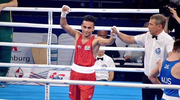 Amit Phangal, 19th World Championships, Carlos Quipo, sports news, boxing, Indian Express