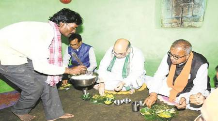 Tribal BJP worker's home where Shah had lunch awaits toilet
