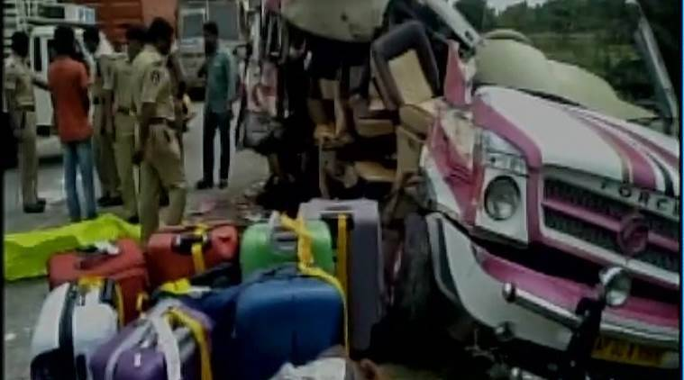 andhra pradesh, andhra pradesh bus accident, chittoor bus accident,  spanish people died, andhra prdesh bus accident, latest news, indian express