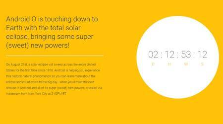 Google, Android O, Android O name, Android O name revealed, Android Oreo, Android Oatmeal Cookie, Solar Eclipse, Solar Eclipse US, Android O launch