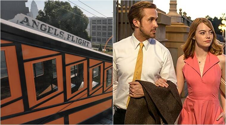 Angels Flight, angels flight la la land, train in La La Land, Emma Stone, Ryan Gosling, Angels Flight derailment, Angels Flight accident, Indian express, Indian express news
