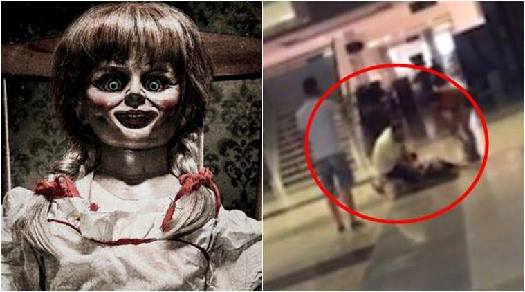 World Cup Draw >> Video: Woman gets hysterical, PUNCHES HERSELF after watching Annabelle: Creation | The Indian ...