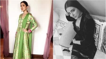 Anushka Sharma in a gorgeous anarkali or in a velvet slip dress — Which look do youprefer?