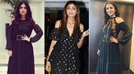 Anushka Sharma, Shilpa Shetty, Bhumi Pednekar: Who wore the cold shoulder dress better?