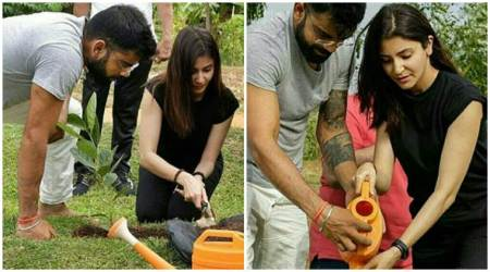 Virat Kohli and Anushka Sharma go environment friendly in Sri Lanka, see pics