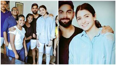 Anushka Sharma stays by boyfriend Virat Kohli's side in Sri Lanka. We love to see the two together always