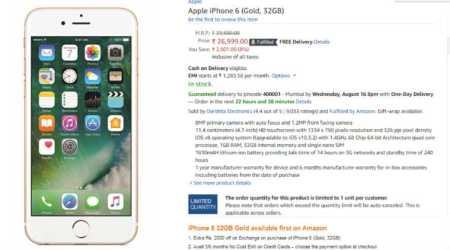 Apple iPhone 6 (32GB): Gold colour variant now available in India at Rs 26,999 via Amazon India